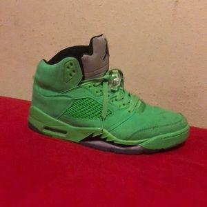 Jordan 5 lime green